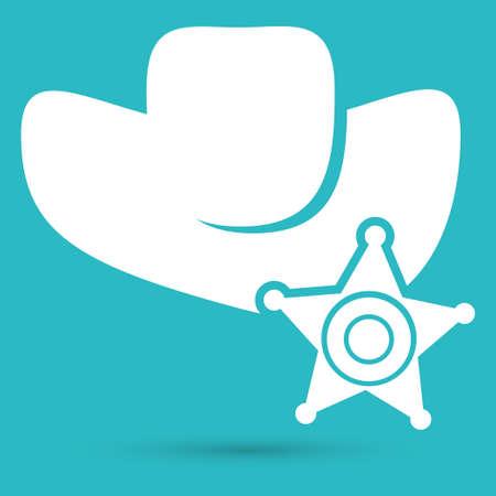sheriff: symbol of a sheriff