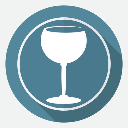 wineglass: The wineglass icon. Goblet symbol Illustration