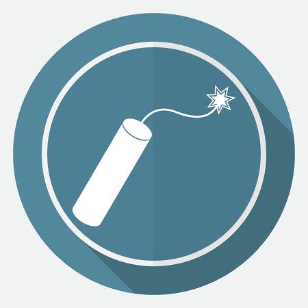 dinamita: TNT bomba de dinamita con la mecha encendida