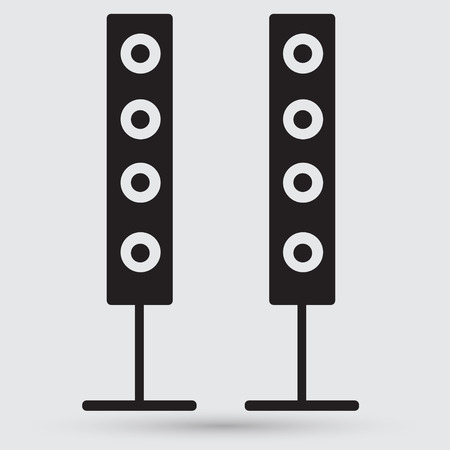 loudly: modern black icon subwoofer Illustration