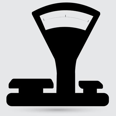 weigher: Kitchen scales icon Illustration