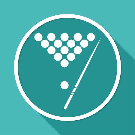 The billiard icon. Game symbol