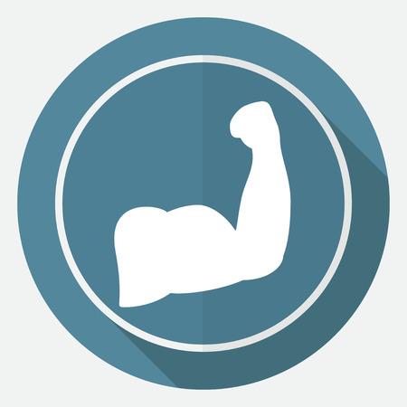 arrogancia: B�ceps icono Vectores