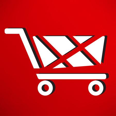 handcart: handcart icon Illustration
