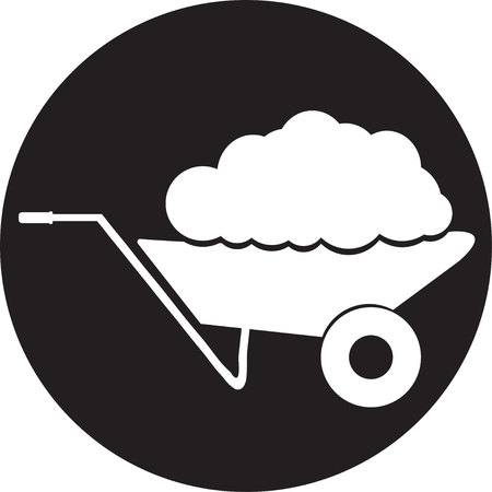 sellotape: handcart icon Illustration
