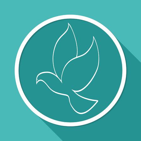 paloma: paloma de la paz Vectores