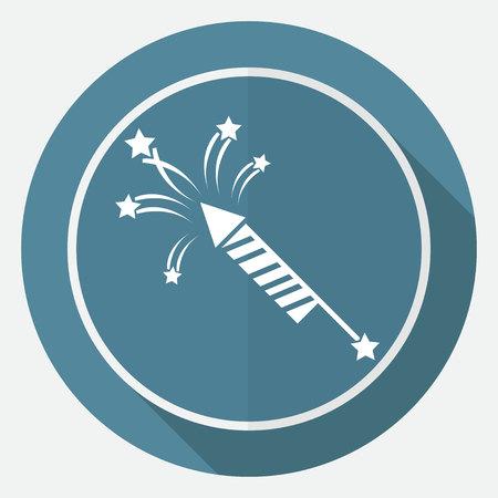 pyrotechnic: Fireworks rockets sign icon. Explosive pyrotechnic device symbol Illustration