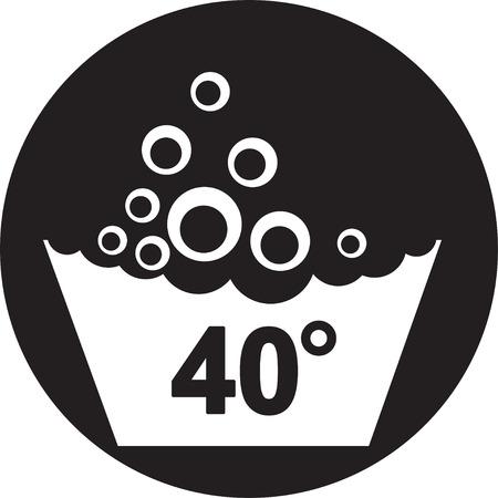 lavamanos: Conjunto de s�mbolos de lavado icono