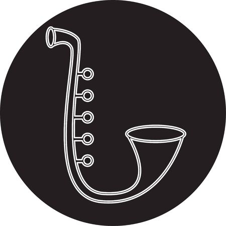 playing with spoon: Saxophone Illustration
