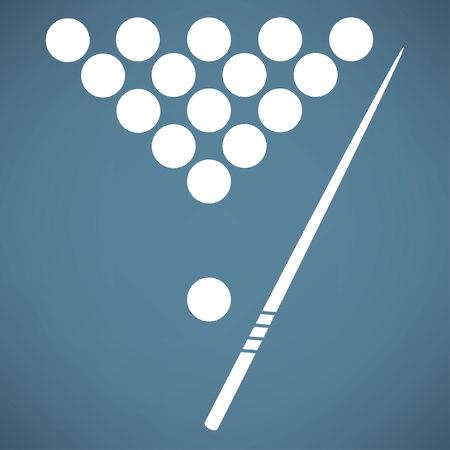 snooker room: The billiard icon. Game symbol