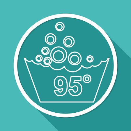 handwash: Set of washing symbols icon Illustration