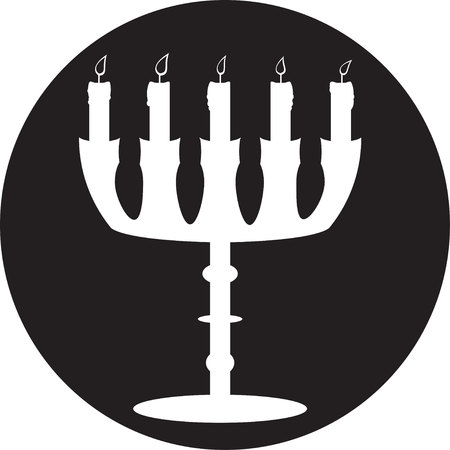 sconce: Candlestick icono Vectores