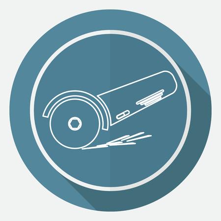 angle: Simple icon angle grinder