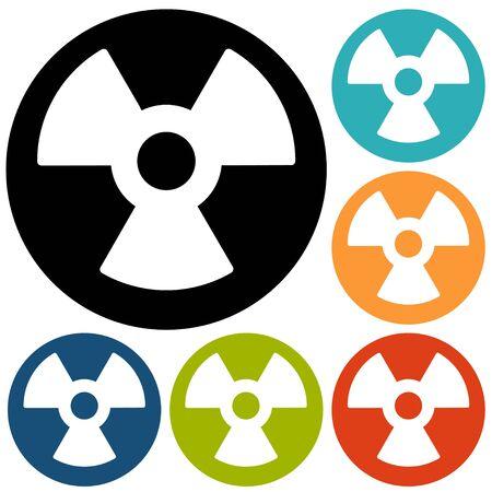 uranium: Radiation Flat style Icon Illustration