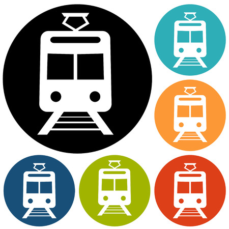 Tren Icono Ilustración de vector