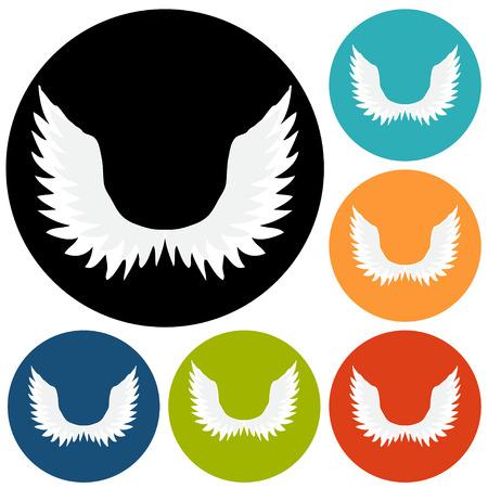 angel: Vector illustration of angel icon