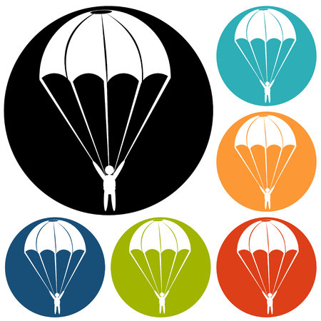 trooper: Parachute Icon Illustration