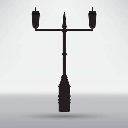 lamp post: Lamp Post Street icon Illustration