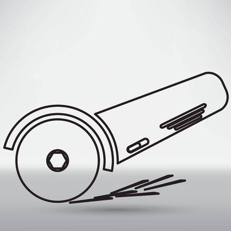 molinillo: Icono simple amoladora angular