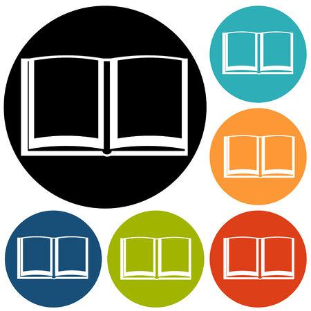 acquaintance: Book icon Vectores