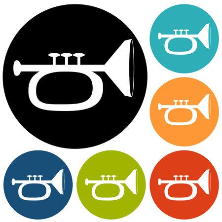 blare: illustration of trumpet