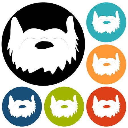 sideburn: beard icon Illustration