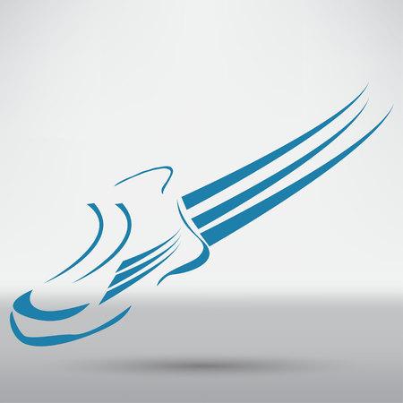running shoe: Speeding running shoe sport