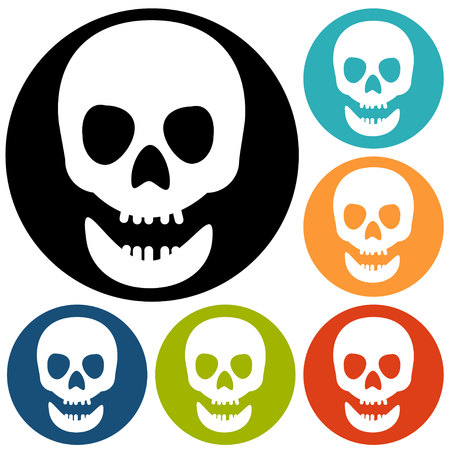 skull icon: Skull icon isolated