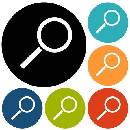 inquire: Magnify icon Illustration