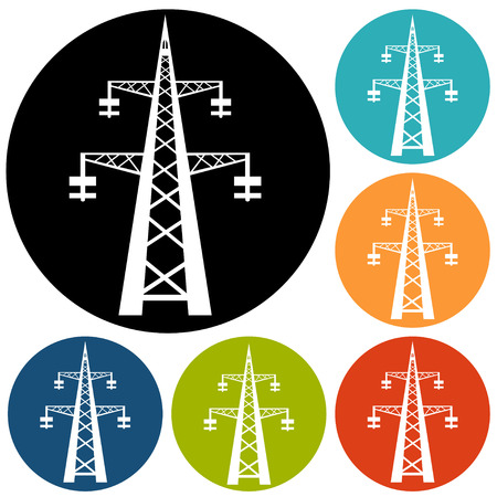 electricity pole: Electricity icon Illustration