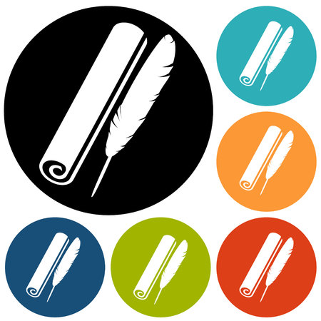 quill: pen quill icon Illustration
