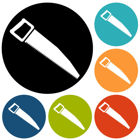 curve claw: vector icon of hand saw