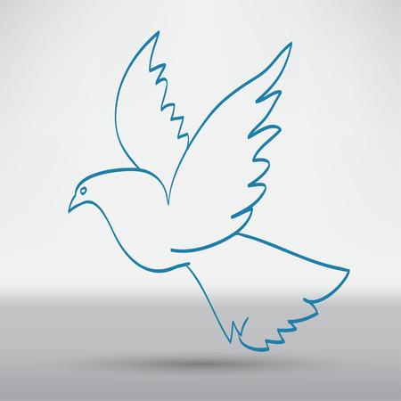 beautiful eyes: dove of peace Illustration