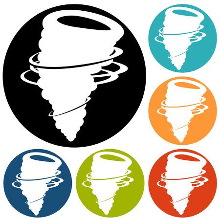 storm damage: Tornado Icon Illustration
