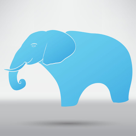 speaking trumpet: Elephant icon Illustration