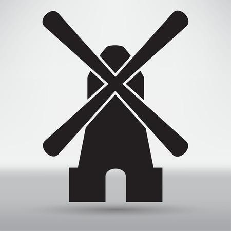 mill: Mill icon Illustration