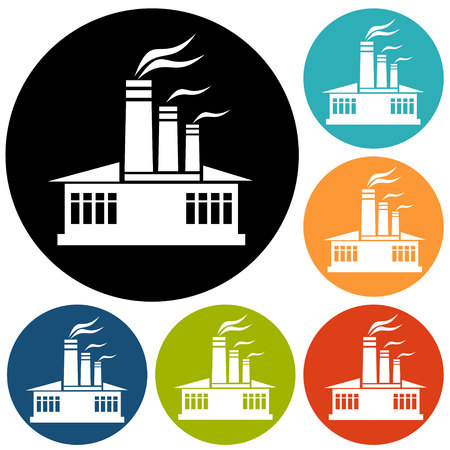 electricity icon: Factory icon