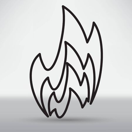 explosion hazard: Fire icon Illustration