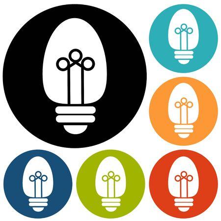 Light bulb vector icon Illustration