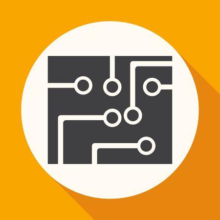 board: Circuit board, technology icon