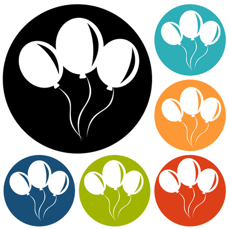 large group of object: balloon icon