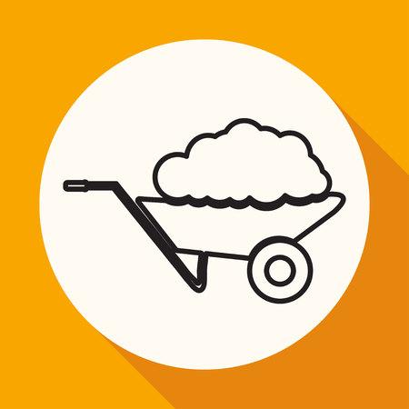 sellotape: handcart icon Illustration