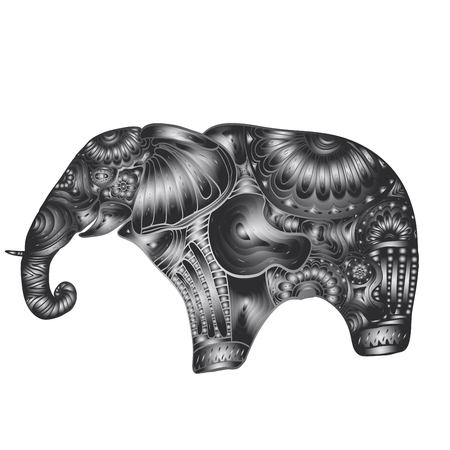 onam: Carved elephant