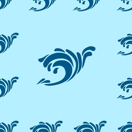 undulating: Undulating blue ocean an sea waves seamless background pattern