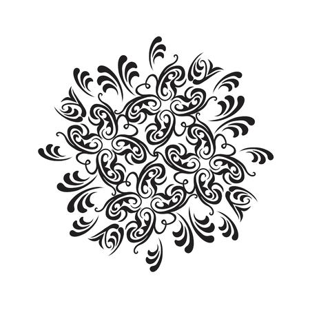 laced: Damask vector floral pattern with arabesque and oriental elements. Abstract traditional ornament for backgrounds Illustration