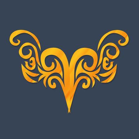 luxo: Ornamento do vetor no estilo vitoriano. Elemento barroco ornamentado por design, decora