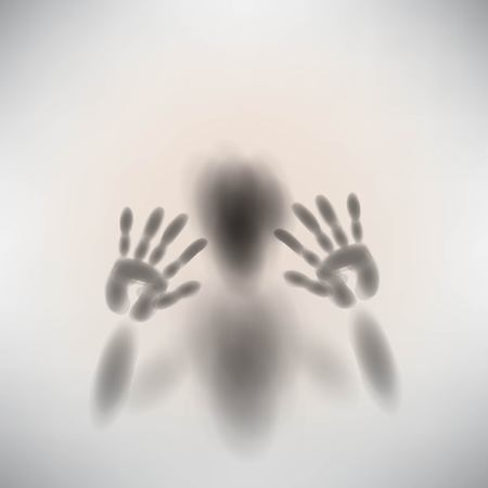 shadow silhouette: spooky diffuse silhouette hand and face