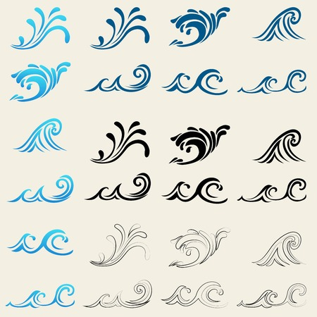 sea waves: set from sea waves
