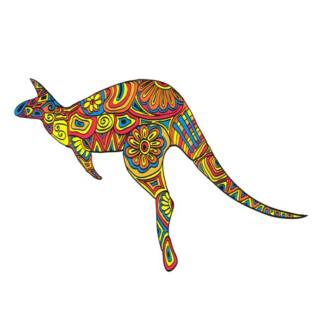 kangaroo mother: Bright kangaroo