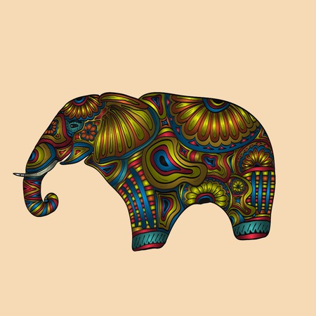 jumbo: Carved elephant